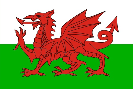 very big size wales country flag illustration Stock Illustration - 13119386