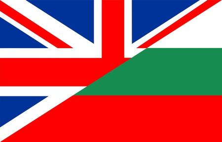 très grande moitié de la taille du Royaume-Uni moitié Bulgarie Drapeau
