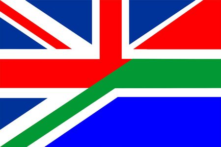 very big size half united kingdom half south africa flag Stock Photo - 13595767