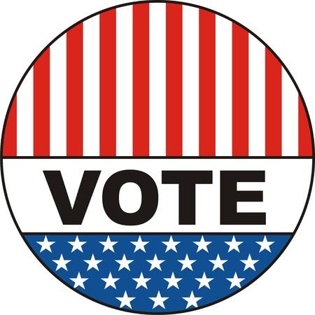 투표는 미국 선거 배지 그림을 계산