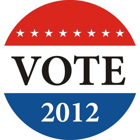 당신의 투표는 미국 선거 배지 일러스트