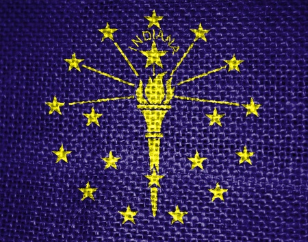 Very large illustration of indiana usa state flag