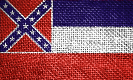 Very large illustration of mississippi usa state flag