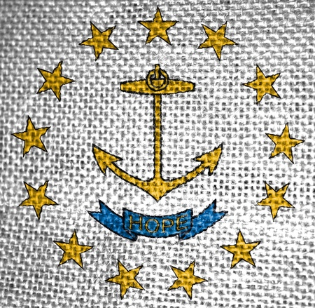 Very large illustration of rhode island usa state flag illustration