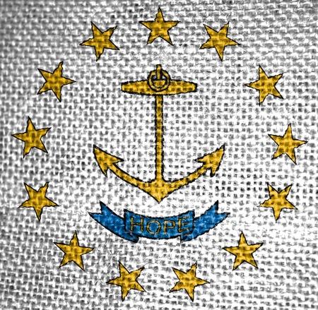 Very large illustration of rhode island usa state flag Stok Fotoğraf
