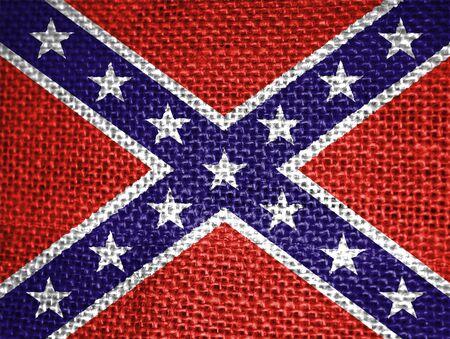very big size confederate usa civil war flag photo
