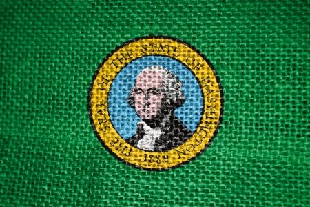 Very large 2d illustration of Washington state  Flag