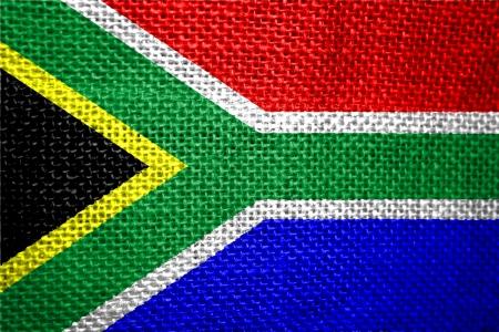 Très grand drapeau du pays de taille illustration de l'Afrique du Sud Banque d'images - 14587256