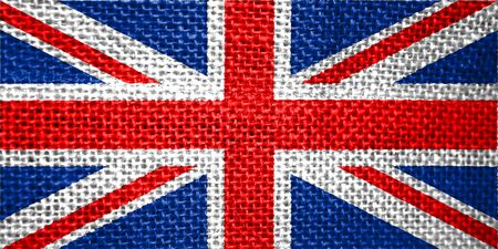 very big size illustration country flag of United Kingdom illustration