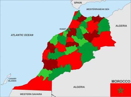 Cartina Marocco Politica.Foto Bandiera Marocco Immagini E Vettoriali