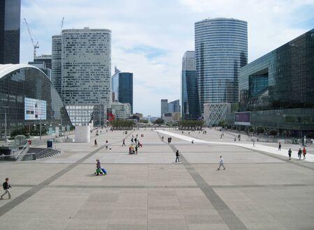 La Defense district in the city of Paris France large view