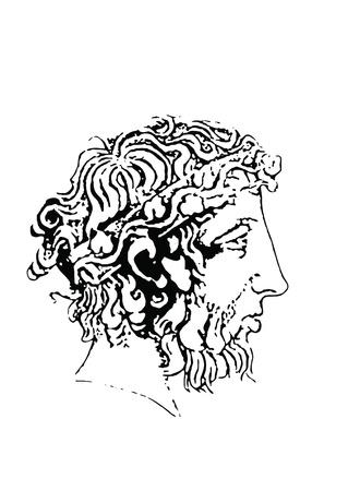 ecstasy: dionysos el dios del vino, vendimia y �xtasis en la mitolog�a griega Foto de archivo
