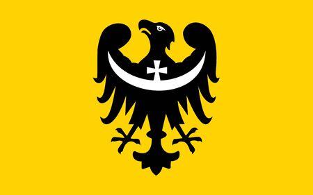 dolnoslaskie: very big size dolnoslaskie Poland flag illustration Stock Photo