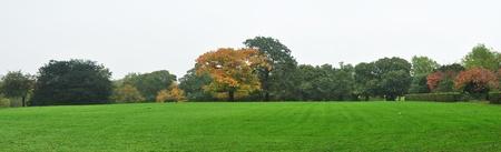 greenwich: autumn english landscape in Greenwich London England panorama