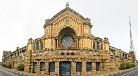 alexandra: South facade of Alexandra Palace in London England panorama Editorial