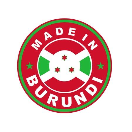 burundi: very big size made in burundi country label