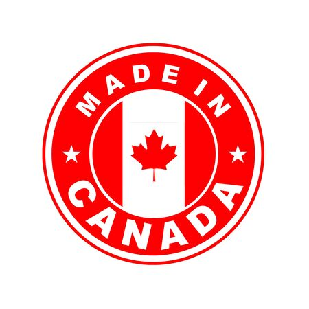canada stamp: very big size made in canada country label Stock Photo