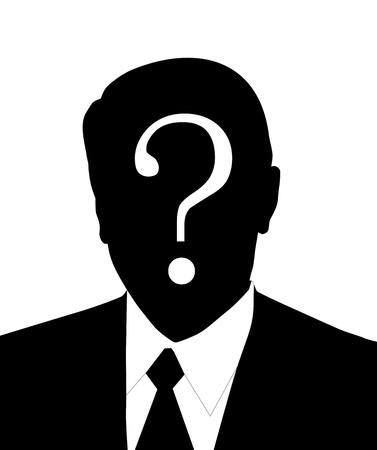 sconosciuto: molto grande uomo dimensione senza volto illustrazione