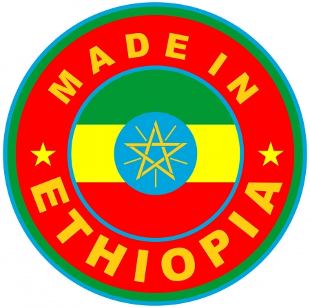 very big size made in ethiopia country label Stock Photo - 17746158