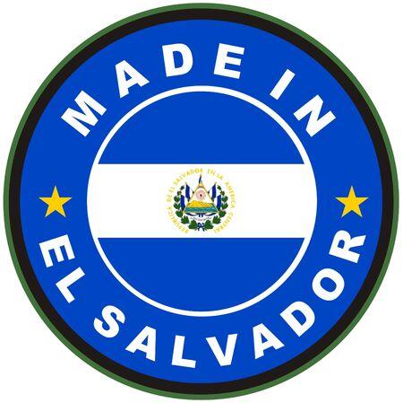 el salvador flag: very big size made in el salvador country label