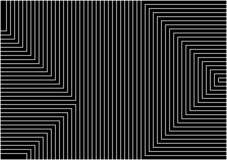 very big size black background with white lines in geometric armony photo