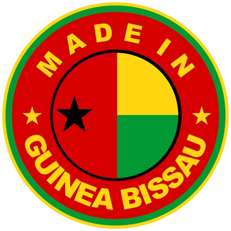 guinea bissau: very big size made in guinea bissau country label Stock Photo