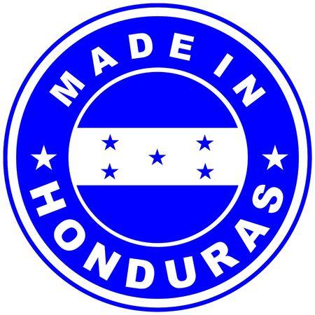 bandera de honduras: tama�o muy grande hecho en la etiqueta de pa�s Honduras