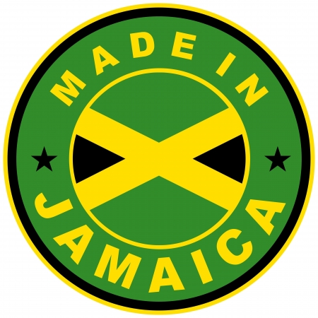very big size made in jamaica country label Stock Photo - 17977833