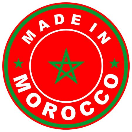 made in morocco: very big size made in morocco country label Stock Photo