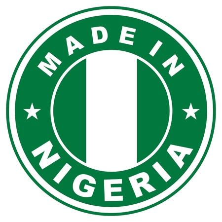 ナイジェリア国のラベルで作られた非常に大きなサイズ 写真素材