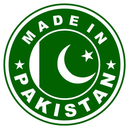 very big size made in pakistan country label Stock Photo - 18765235