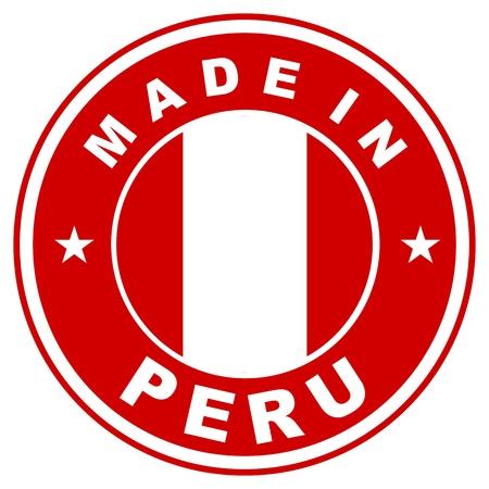 bandera peru: tama�o muy grande hecho en la etiqueta de pa�s Per� Foto de archivo