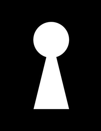 key hole: very big size key hole black and white illustration Stock Photo
