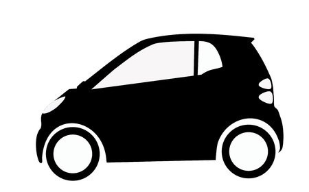 very big size smart car silhouette illustration illustration