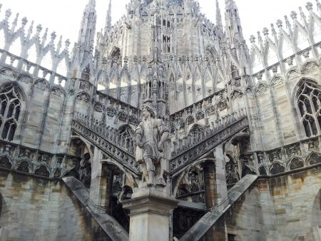 Duomo cathedral architecture detail Milan Italy photo