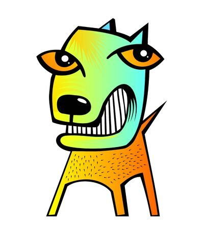big size: very big size abstract funny dog illustration