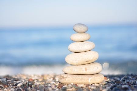 beack: zen white round stones on the beack good for wallpaper