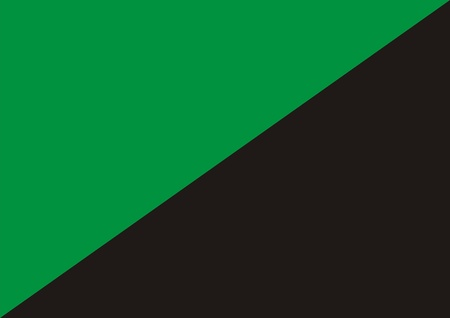 anarchism: Green anarchism flag or eco anarchism computer generated