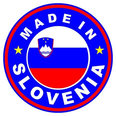 very big size made in slovenia label illustratioan