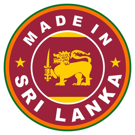 big size: very big size made in sri lanka label illustratioan