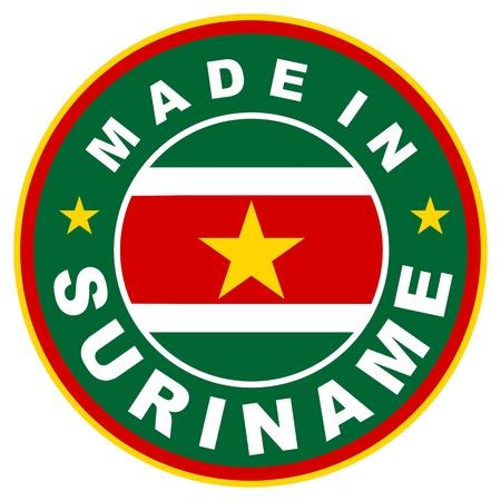 suriname: zeer groot formaat gemaakt in Suriname label illustratioan
