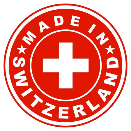 big size: very big size made in switzerland label illustratioan