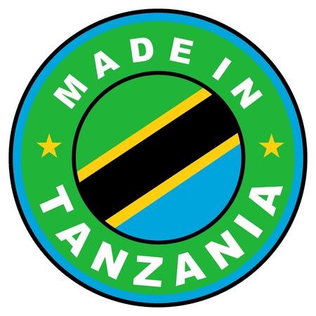 big size: very big size made in tanzania label illustratioan Stock Photo