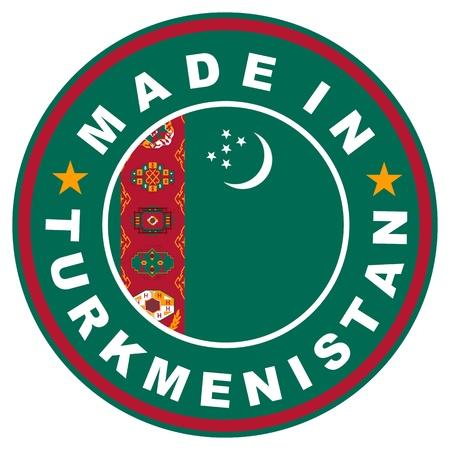 big size: very big size made in turkmenistan label illustratioan