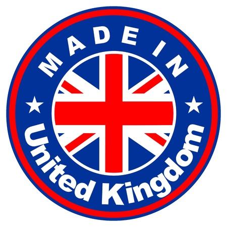 big size: very big size made in united kingdom label illustratioan
