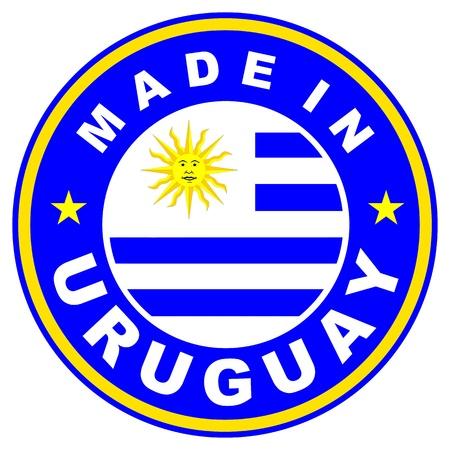 big size: very big size made in uruguay label illustratioan