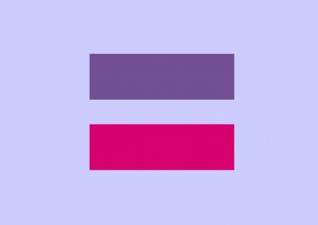 Equal Sign A Symbol Of Bisexual Marriage Equality Sign Human Stock