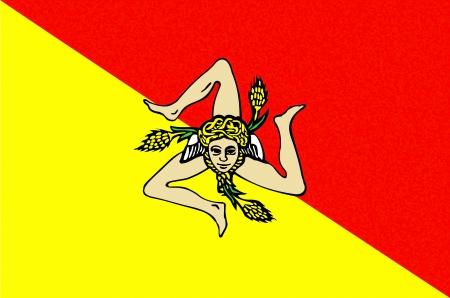 very big size sicilia people republic flag