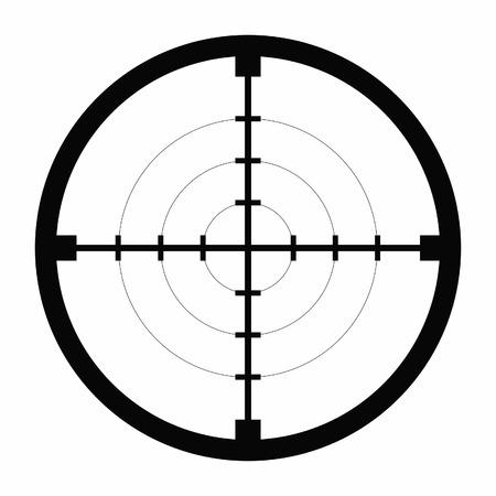 sniper black finder target illustration bull eye Ilustrace