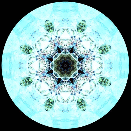 computer generated seamless kaleidoscope flower pattern illustration illustration